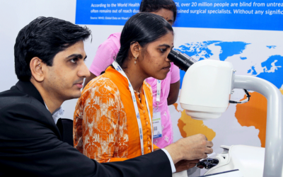 HelpMeSee Eye Surgery Simulator Demonstrations at CCC 2019